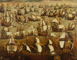 English ships and the Spanish Armada, August 1588 by Pieter Coopse - print