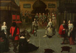 Charles II dancing at The Hague, May 1660 by unknown - print