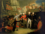 Nelson receiving the surrender of the 'San Josef' by Thomas Whitcombe - print