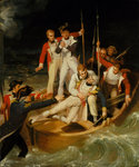 Nelson wounded at Tenerife, 24 July 1797 by Samuel Drummond - print