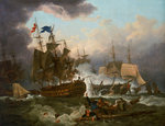 The Battle of Camperdown, 11 October 1797 by Thomas Luny - print