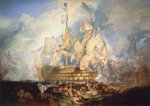 The Battle of Trafalgar, 21 October 1805 by Thomas Luny - print