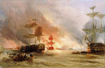 The bombardment of Algiers, 27 August 1816 by Thomas Luny - print