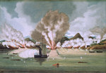 Destruction of Chui Apoo's pirate fleet, 30 September 1849 by Willem Van de Velde the Younger - print