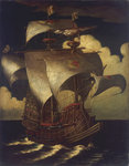 'A carrack before the wind' by Pieter Brueghel the Elder by Abraham Willaerts - print