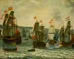 Action between ships in the First Dutch War, 1652-1654 by Pieter Coopse - print