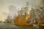 Action between the Dutch fleet and barbary pirates by Hendrik van Minderhout - print