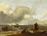 A windy day on the Dutch coast by Samuel Drummond - print