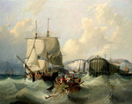 A brig leaving Dover by Richard Brydges Beechey - print