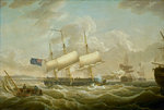 A frigate coming to anchor in the Mersey by Thomas Luny - print