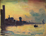 Greenwich and the Thames by John Everett - print