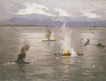 Beaufighters attacking an enemy convoy by Richard Ernst Eurich - print