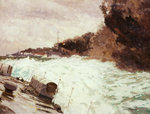 Destroyer smoke screen by Norman Wilkinson - print