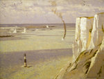 Beachy Head: attack on a convoy by Norman Wilkinson - print
