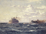 A rescue tug approaching a steamship by Richard Ernst Eurich - print