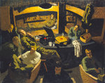 Naval officers room at Marlag 'O' prisoner-of-war camp by Robert Dodd - print