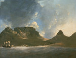 A View of the Cape of Good Hope, taken on the spot, from on board the 'Resolution' by Herbert Barnard John Everett - print