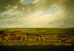 Aerial view of Deptford Dockyard by Augustus Wall Callcott - print