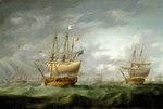 Loss of HMS 'Ramillies', September 1782: before the storm breaks by Dominic Serres the Elder - print
