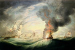 Loss of HMS 'Ramillies', September 1782: blowing up the wreck by Robert Dodd - print