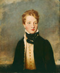 Rear-Admiral Louis Tindal as a boy (circa 1810-1876) by J. Browne - print