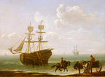 A beached Collier Unloading into Carts by John Askew - print