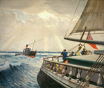 Iquique' from the stern with the Tug 'Warrior' by William Hodges - print
