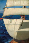 Mainmast sails by William Hodges - print