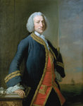 Lord George Anson (1697-1762) by Denis Dighton - print