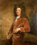 Admiral Sir John Jennings (1664-1743) by British School - print