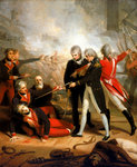 Receiving the surrender of the 'San Nicolas', 14 February 1797 by Samuel Drummond - print