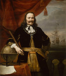Michiel Adriaenszoon de Ruyter, Lieutenant-Admiral-General of the United Provinces (1607-1676) by William Hogarth - print