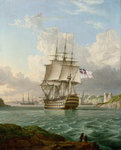 HMS 'Britannia' leaving a Mediterranean harbour by George Gower - print