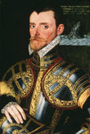 Admiral Sir Richard Hawkins (1532-1595) Fine Art Print by George Gower