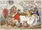 John Bull taking a Luncheon... by James Gillray - print