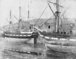 Mary Dugdale' and unidentified ship - possibly 'Countess of Bective by unknown - print
