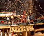 'Endeavour', detail, foremast starboard shrouds and anchors