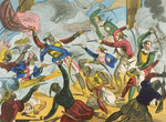 Turks attacking Greek corsairs by Willem Van de Velde the Younger - print