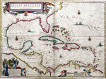 Gulf of Mexico and the Caribbean, from Blaeu's 'Atlas of the Americas' by unknown - print