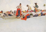 Pirates share out their spoils by Howard Pyle - print