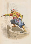 Dragut Reis, the famous Barbary corsair, prepares to board an enemy vessel in search of loot by A. Catel - print