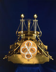 Front view of John Harrison's marine timekeeper H1 by Thomas Earnshaw - print