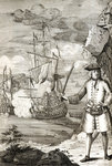 Captain Henry Avery taking one of the Great Moghul's ships by unknown - print