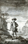 Captain Bartholomew Roberts, pirate and buccaneer by unknown - print