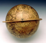 Celestial table globe by unknown - print