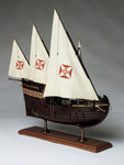 A full hull model of a Portugese caravel by unknown - print