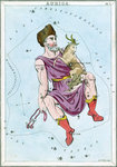 Constellation card, Urania's Mirror, Auriga by Sidney Hall - print
