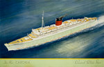 Cunard White Star Line Poster, the New Caronia by unknown - print