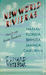 Cunard White Star Poster, New World Rivieras by unknown - print
