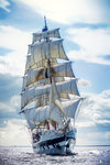 'Stavros S Niarchos' crossing the start line during the 2010 North Sea Tall Ships Regatta by Richard Sibley - print
